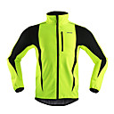 cheap Cycling Jackets-Arsuxeo Men's Cycling Jacket Bike Jacket / Winter Fleece Jacket / Top Thermal / Warm, Windproof, Anatomic Design Stripe Polyester,