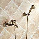cheap Bathtub Faucets-Antique Tub And Shower Handshower Included Ceramic Valve Two Holes Single Handle Two Holes Antique Brass, Shower Faucet Bathtub Faucet