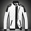 preiswerte Herrenhalbschuhe-Herrn - Einfarbig Grundlegend Jacke, Ständer Patchwork / Langarm / Übergrössen