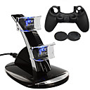 billige PS4-tilbehør-Lader / Game Controller Case Protector Til PS4 ,  Lader / Game Controller Case Protector Silikon / ABS 1 pcs enhet