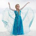 זול נעלי עקב לנשים-שמלה כותנה אקריליק כל העונות שרוול ארוך טלאים הילדה של תחרה כחול