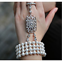 cheap Party Headpieces-Pearl Chain Bracelet - Pearl Vintage, Party, Work Bracelet For Party