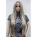 cheap Synthetic Capless Wigs-Synthetic Wig Straight Blonde Synthetic Hair Highlighted / Balayage Hair / Middle Part Blonde Wig Women's Very Long Capless