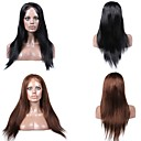 cheap Human Hair Wigs-Human Hair Full Lace / Lace Front Wig Straight Wig 130% Natural Hairline / African American Wig / 100% Hand Tied Women's Short / Medium Length / Long Human Hair Lace Wig