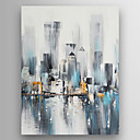 cheap Wall Stickers-Oil Painting Hand Painted - Abstract Modern Canvas / Stretched Canvas