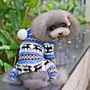baratos Smartwatch Acessórios-Cachorro Macacão / Pijamas Roupas para Cães Floco de Neve Marron / Vermelho / Azul Lã Polar Ocasiões Especiais Para animais de estimação