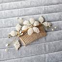 baratos Acessórios de Cabelo-Imitação de Pérola / Strass Pentes de cabelo com 1 Casamento / Ocasião Especial / Ao ar livre Capacete