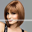 cheap Human Hair Capless Wigs-Human Hair Capless Wigs Human Hair Straight Bob / With Bangs Middle Part Short Capless Wig Women's
