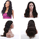 cheap Human Hair Wigs-Human Hair Full Lace / Lace Front Wig Natural Wave Wig 130% Natural Hairline / African American Wig / 100% Hand Tied Women's Short / Medium Length / Long Human Hair Lace Wig