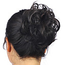 cheap Party Sashes-hot stylish pony tail women clip in on hair bun hairpiece synthetic hair extension scrunchie