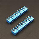 cheap Connectors & Terminals-2 Pin 5.0mm Terminal Blocks Connectors - Blue (5-Piece)