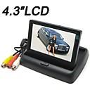 baratos Câmeras de Ré para Carros-4,3 polegadas monitor do carro monitor de duas vias av