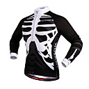 cheap Fitness, Running & Yoga Clothing-WOSAWE Unisex Cycling Jersey Bike Jersey / Top Windproof, Reflective Strips Skull Bike Wear