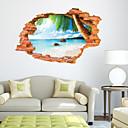 preiswerte Wand-Sticker-Dekorative Wand Sticker - 3D Wand Sticker Landschaft Wohnzimmer Schlafzimmer Esszimmer Studierzimmer / Büro