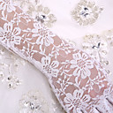 cheap Wedding Wraps-Lace / Cotton Wrist Length / Elbow Length Glove Charm / Stylish / Bridal Gloves With Embroidery / Solid