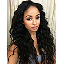 cheap Human Hair Wigs-Human Hair Lace Front Wig Wig Wavy / Deep Wave 130% Density Natural Hairline / African American Wig / 100% Hand Tied Women's Short / Medium Length / Long Human Hair Lace Wig