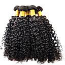 זול תוספות שיער בגוון טבעי-שיער ברזיאלי אפרו / Kinky Curly שיער בתולי טווה שיער אדם 1 עניץ 8-28 אִינְטשׁ שוזרת שיער אנושי תוספות שיער אדם