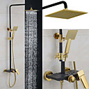 cheap Shower Faucets-Shower Faucet Contemporary Rain Shower/Handshower Included Brass Chrome