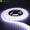 billige LED Lyskæder-SENCART 5 m Fleksible LED-lysstriber 300 lysdioder 5630 SMD Varm hvid / Hvid / Rød Vandtæt / Chippable / Koblingsbar 12 V 1pc / IP68 / Passer til Køretøjer / Selvklæbende