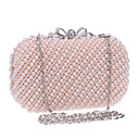 cheap Clutches & Evening Bags-Women's Bags Polyester Evening Bag Geometric White / Beige / Pink