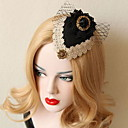 cheap Party Headpieces-Tulle Lace Fabric Alloy Fascinators 1 Wedding Special Occasion Headpiece
