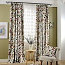 cheap Prints-(Two Panels)Country Flower and Birds Printed Cotton Polyester Blend Blackout Curtain(Sheer Not Included)
