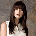hesapli Bonesiz-İnsan Saçları Kapsız Peruklar Gerçek Saç Düz Bonesiz Peruk