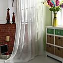 halpa Harsoverhot-Läpinäkyvät verhot Shades Makuuhuone Yhtenäinen Pellava / polyesteriseos Jakardi