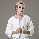 cheap Wedding Wraps-Faux Fur Wedding / Party Evening / Casual Fur Coats With Shrugs