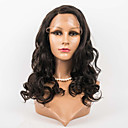 cheap Human Hair Wigs-Human Hair Lace Front Wig Wig Body Wave 120% Density Ombre Hair / Natural Hairline / African American Wig Women's Medium Length Human Hair Lace Wig / 100% Hand Tied