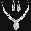 abordables Collares-Diamante sintético Conjunto de joyas - Zirconia Cúbica, Diamante Sintético Fiesta, Trabajo, Europeo Incluir Blanco Para Fiesta Ocasión especial Aniversario / Pendientes / Collare