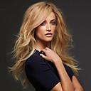 preiswerte Synthetische Perücken ohne Kappe-Synthetische Perücken Locken / Große Wellen Blond Asymmetrischer Haarschnitt Synthetische Haare Natürlich / Modisch Blond Perücke Damen Lang Kappenlos # 27 Blondine