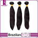 baratos Utensílios para Biscoitos-3 pacotes Cabelo Brasileiro Liso / Clássico Cabelo Virgem Cabelo Humano Ondulado Tramas de cabelo humano Extensões de cabelo humano / Reto
