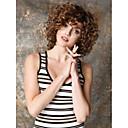 お買い得  人工毛キャップレスウィッグ-人工毛ウィッグ 女性用 カール / Kinky Curly 合成 かつら ショート キャップレス Brown