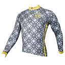 abordables Maillots Ciclismo-ILPALADINO Hombre Manga Larga Maillot de Ciclismo - Gris Bicicleta Camiseta / Maillot, Secado rápido, Resistente a los UV, Transpirable