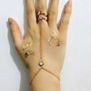 preiswerte Religiöser Schmuck-Damen Geometrisch Ring-Armbänder - Strass, Diamantimitate Simple Style, Modisch Armbänder Golden Für Hochzeit / Party / Alltag