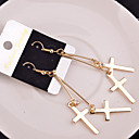 cheap Religious Jewelry-Women's Drop Earrings - Cross Ladies Jewelry Silver / Golden For Wedding Party Daily Casual