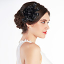 cheap Party Headpieces-Nice Tulle Wedding Bridal Black Flower/ Corsage/ Headpiece