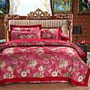 cheap High Quality Duvet Covers-Duvet Cover Sets Floral 4 Piece Cotton Reactive Print Cotton 1pc Duvet Cover 2pcs Shams 1pc Flat Sheet