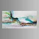 tanie Obrazy: abstrakcja-Hang-Malowane obraz olejny Ręcznie malowane - Abstrakcja Klasyczny / Tradycyjny / Nowoczesny Brezentowy / Rozciągnięte płótno