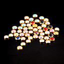 cheap Rhinestone & Decorations-100pcs colorful pearl metal lipping nail art decorations