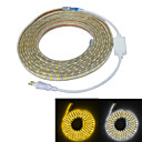 cheap Models & Model Kits-5m Power Supply 300 LEDs 5050 SMD Warm White / White Waterproof / Suitable for Vehicles 220 V / IP65