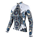 cheap Cycling Jerseys-ILPALADINO Women's Long Sleeve Cycling Jersey - White Floral / Botanical Bike Jersey Top, Breathable Quick Dry, Spring Summer Fall, 100% Polyester / High Elasticity / Plus Size / Plus Size