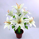 cheap Artificial Plants-Artificial Flowers 1 Branch Simple Style Lilies Tabletop Flower