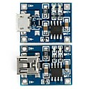 abordables Accesorios para Robot-carga de la batería de litio 3.7v tp4056 módulo de placa cargador micro usb + módulo de cargador mini USB