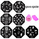 cheap Nail Stamping-11 pcs Nail Jewelry Stamping Plate nail art Manicure Pedicure Daily Flower / Fashion / Metal