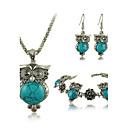 cheap Jewelry Sets-Women's Turquoise Jewelry Set - Turquoise Vintage, Fashion Include For Party / Birthday / Engagement / Earrings / Necklace / Bracelets & Bangles