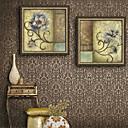 tanie Brokat do paznokci-Oprawione płótno Zestaw w oprawie Krajobraz Kwiatowy/Roślinny Postarzane Wall Art, PVC (polichlorek winylu) Materiał z ramą Dekoracja