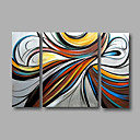 cheap Totes-Oil Painting Hand Painted - Abstract Modern Canvas