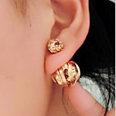 cheap Earrings-Women's Stud Earrings Double Sided Earrings Jewelry Black / Silver / Golden For Wedding Party Daily Casual